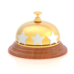 Three star hotel's reception bell