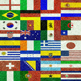 World football championship,  flags of countries participating