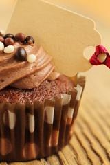 Cupcake mit Preisschild