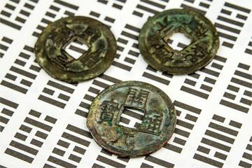 I Ging, Orakel mit Münzen