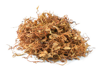 Tobacco leaves were dried, cut into small strips called line tob