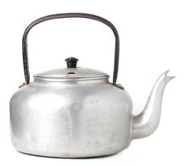 Old Boiler Pot in White background