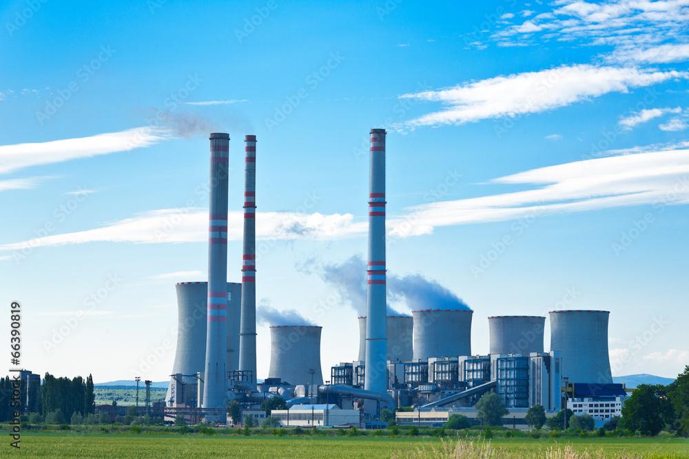 elektrownia dym stosu - powiększenie