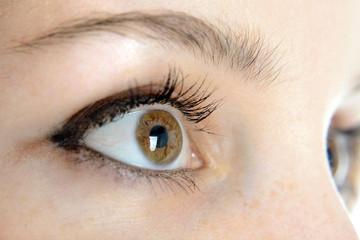 Schöne Augen in Nahaufnahme