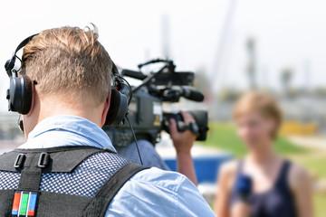 Fernsehteam vor Ort bei Aufzeichnung