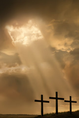 Inspirational Easter Illustration withThree Crosses