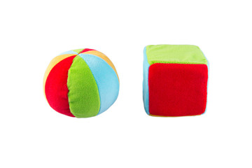 soft toy for kids ball and cube