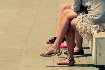 Female legs in summer