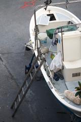 Barca nel cantiere navale
