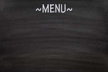 Empty menu board