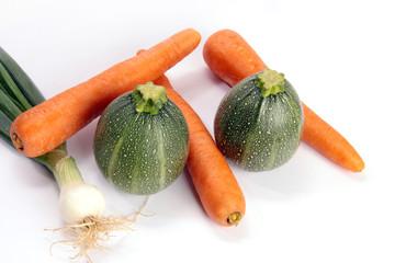 Zwiebel Karotten Zucchini Rondini