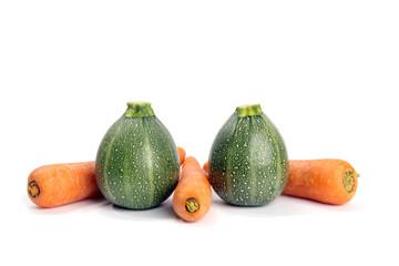 Zucchini und Karotten Rondini