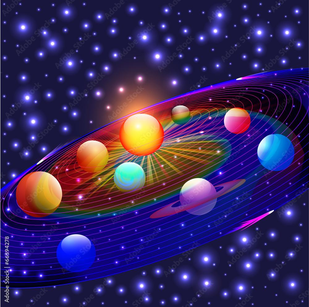 widok astronomia światło - powiększenie