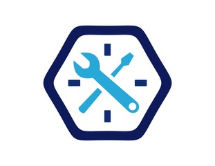 logo workshop,mechanic icon,technology engineering symbol