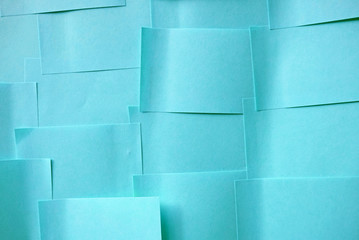 blue memo note papers background