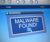 Malware concept. poster