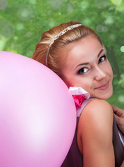 Young woman with a balloon
