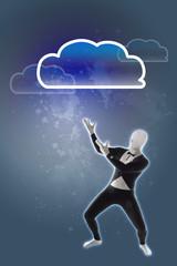 Mann Cloud Wolke Netzwerk Wolke
