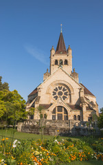 Basel, Altstat, Pauluskirche, Vormittag, Sommer, Schweiz