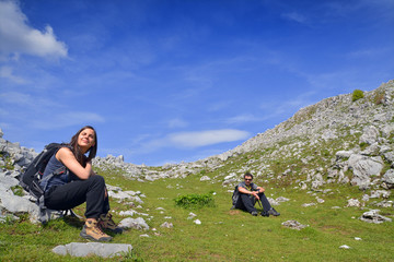 summer hikers
