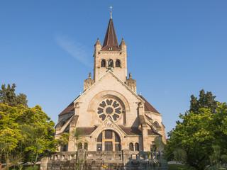 Basel, Altstadt, Pauluskirche, Morgenstunde, Sommer, Schweiz