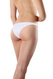 Beautiful body of woman exposing bottom and back side, Isolated poster