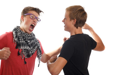 teen boy fight