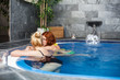 Women in wellness and spa swimming pool