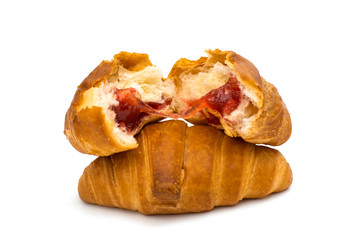 croissants isolated