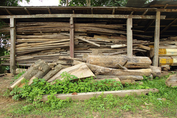 stack of old wood