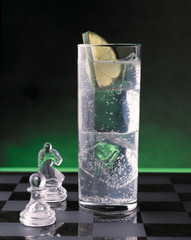 Cocktail on a chessboard