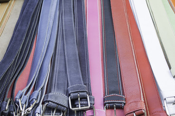 Leather belts colors