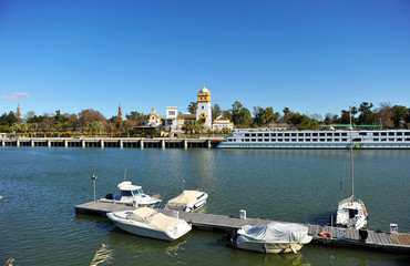 Guadalquivir River, the river port, Sevilla, Spain
