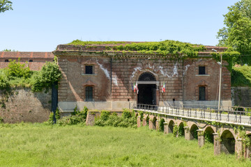 monumental entrance of Cittadella fortifications, Alessandria, I