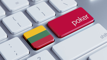 Lithuania Poker Concept