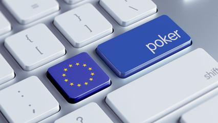 European Union Poker Concept