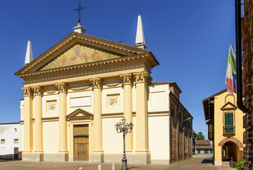 Parish church, Frassineto Po, Piedmont. Italy