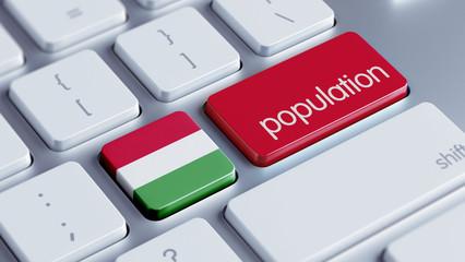 Hungary Population Concept.
