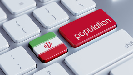 Iran Population Concept.