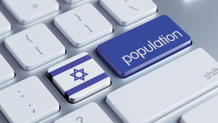 Israel Population Concept.