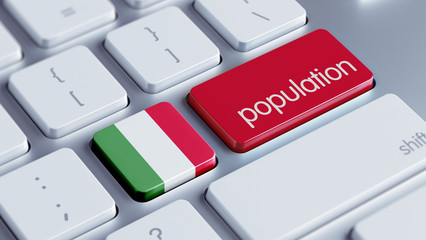 Italy Population Concept.