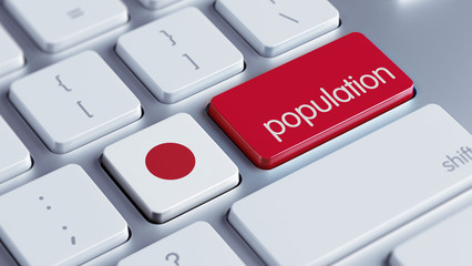 Japan Population Concept.