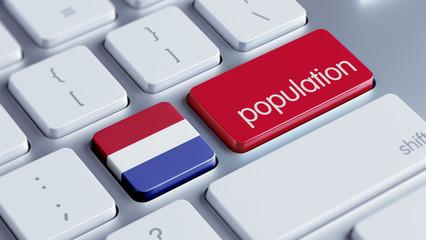 Netherlands Population Concept.