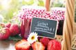 Leinwandbild Motiv Strawberryjam homemade