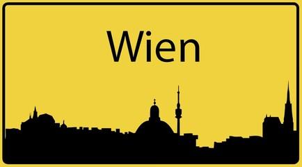 Ortsschild Wien