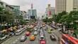 City Traffic Time Lapse Bangkok