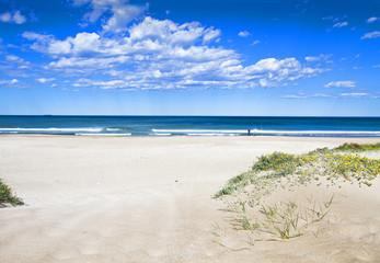 la playa de arana y dunas blancas