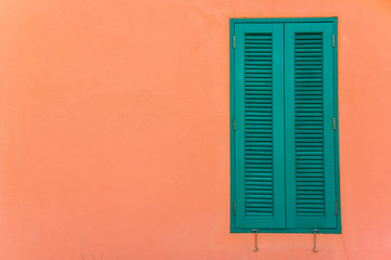 Italian style shutters in a old house