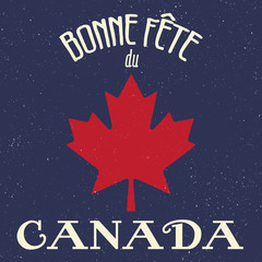 Retro French Canada Day Sign