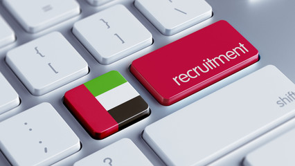 United Arab Emirates. Recruitment Concept